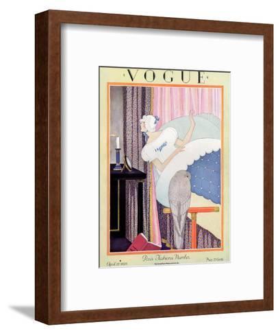 Vogue Cover - April 1925-George Wolfe Plank-Framed Art Print
