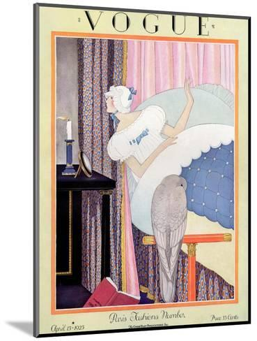 Vogue Cover - April 1925-George Wolfe Plank-Mounted Premium Giclee Print