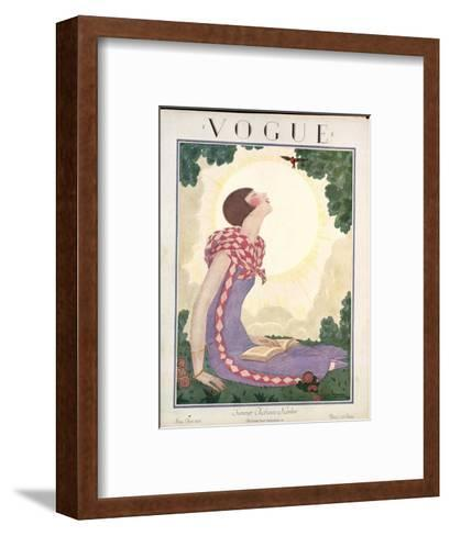 Vogue Cover - June 1925-Georges Lepape-Framed Art Print