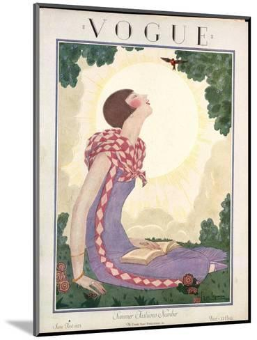 Vogue Cover - June 1925-Georges Lepape-Mounted Premium Giclee Print