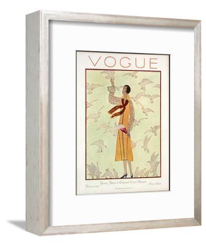 Vogue Cover - February 1926-Andr? E. Marty-Framed Art Print