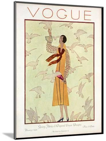 Vogue Cover - February 1926-Andr? E. Marty-Mounted Premium Giclee Print