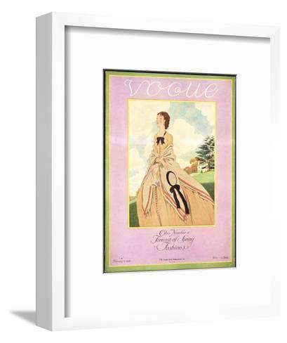 Vogue Cover - February 1926-Pierre Brissaud-Framed Art Print