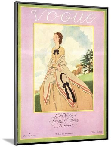 Vogue Cover - February 1926-Pierre Brissaud-Mounted Premium Giclee Print