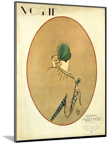 Vogue Cover - March 1926-Porter Woodruff-Mounted Premium Giclee Print