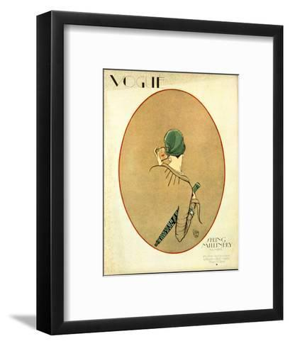 Vogue Cover - March 1926-Porter Woodruff-Framed Art Print