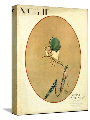 Vogue Cover - March 1926-Porter Woodruff-Stretched Canvas Print
