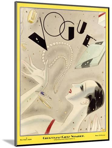 Vogue Cover - December 1926-William Bolin-Mounted Premium Giclee Print