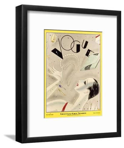 Vogue Cover - December 1926-William Bolin-Framed Art Print