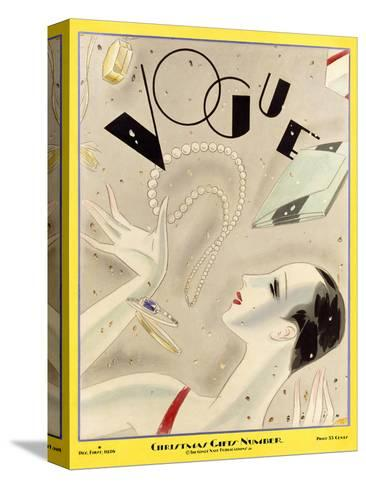 Vogue Cover - December 1926-William Bolin-Stretched Canvas Print
