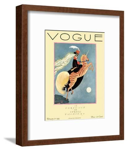 Vogue Cover - February 1927-George Wolfe Plank-Framed Art Print