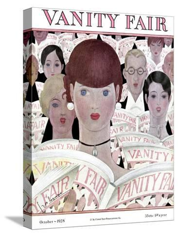 Vanity Fair Cover - October 1928-Georges Lepape-Stretched Canvas Print