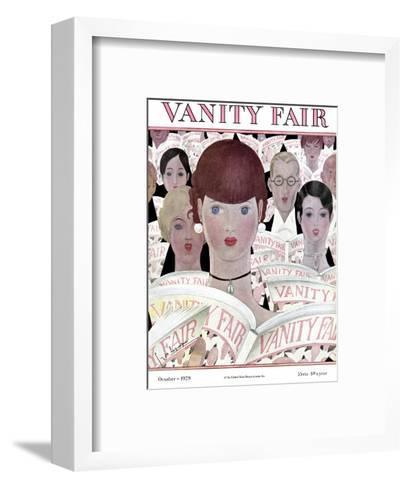 Vanity Fair Cover - October 1928-Georges Lepape-Framed Art Print