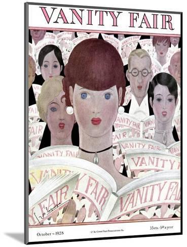 Vanity Fair Cover - October 1928-Georges Lepape-Mounted Premium Giclee Print