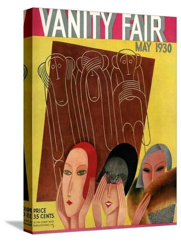 Vanity Fair Cover - May 1930-Miguel Covarrubias-Stretched Canvas Print