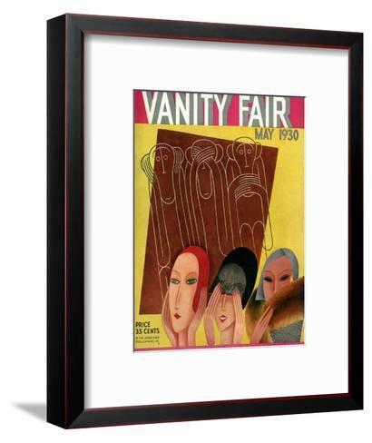 Vanity Fair Cover - May 1930-Miguel Covarrubias-Framed Art Print