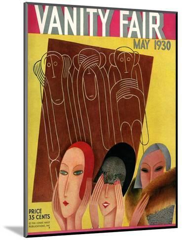 Vanity Fair Cover - May 1930-Miguel Covarrubias-Mounted Premium Giclee Print