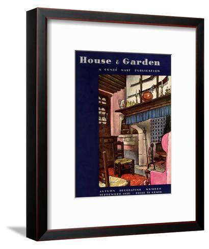 House & Garden Cover - September 1930-Pierre Brissaud-Framed Art Print