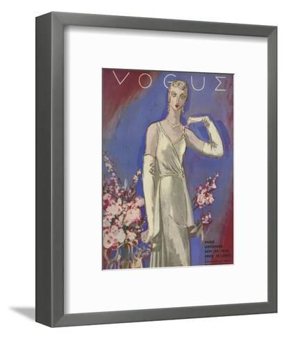 Vogue Cover - September 1930-Eduardo Garcia Benito-Framed Art Print