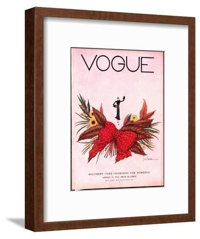 Vogue Cover - August 1932-Georges Lepape-Framed Art Print