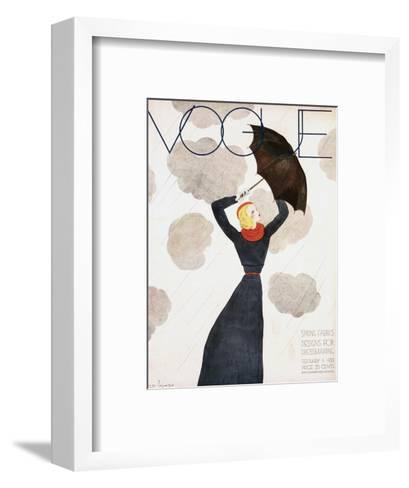 Vogue Cover - February 1933-Georges Lepape-Framed Art Print