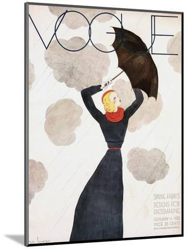 Vogue Cover - February 1933-Georges Lepape-Mounted Premium Giclee Print