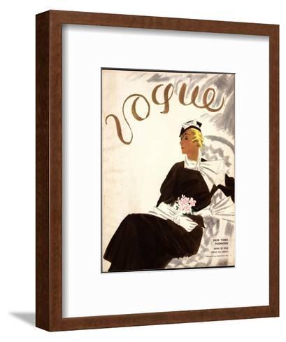 Vogue Cover - July 1933-R.S. Grafstrom-Framed Art Print