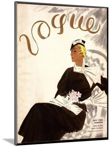 Vogue Cover - July 1933-R.S. Grafstrom-Mounted Premium Giclee Print
