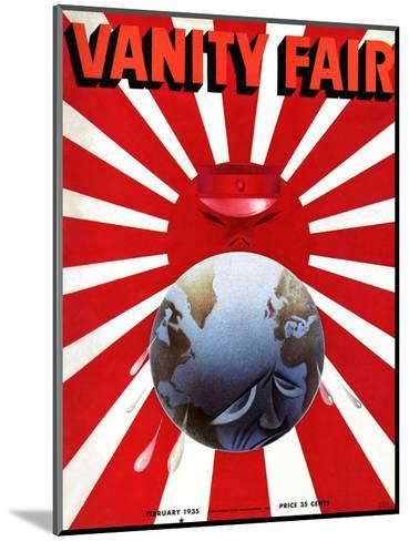 Vanity Fair Cover - February 1935-Garretto-Mounted Premium Giclee Print