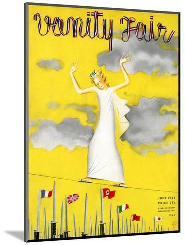 Vanity Fair Cover - June 1935-Garretto-Mounted Premium Giclee Print