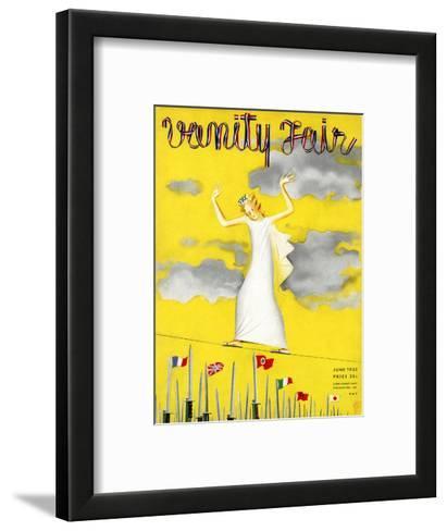 Vanity Fair Cover - June 1935-Garretto-Framed Art Print