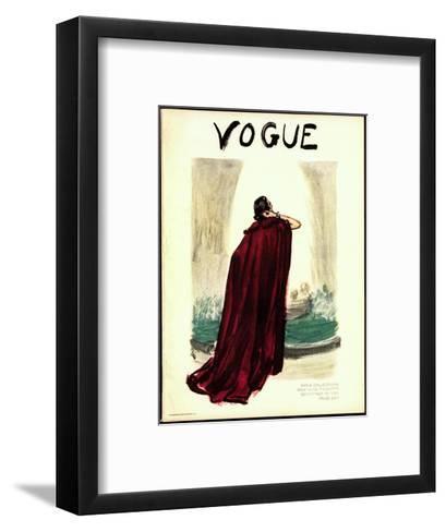 """Vogue Cover - September 1935-Carl """"Eric"""" Erickson-Framed Art Print"""