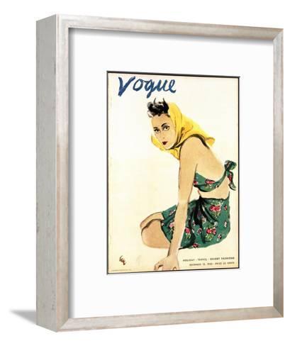 "Vogue Cover - December 1935-Carl ""Eric"" Erickson-Framed Art Print"