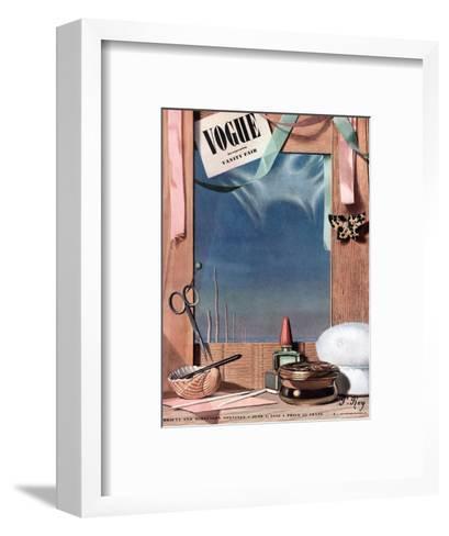 Vogue Cover - June 1936-Pierre Roy-Framed Art Print