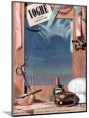 Vogue Cover - June 1936-Pierre Roy-Mounted Premium Giclee Print