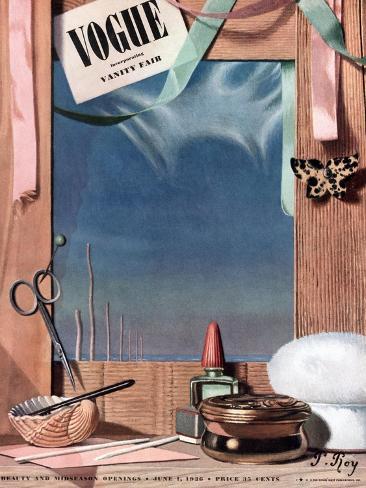 Vogue Cover - June 1936-Pierre Roy-Stretched Canvas Print