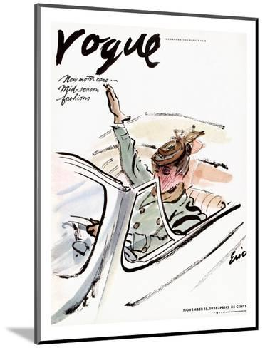 "Vogue Cover - November 1938-Carl ""Eric"" Erickson-Mounted Premium Giclee Print"