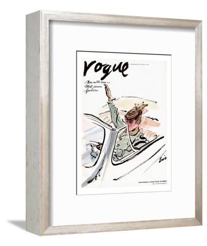 "Vogue Cover - November 1938-Carl ""Eric"" Erickson-Framed Art Print"