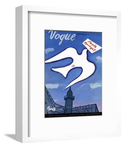 Vogue Cover - March 1939-Eduardo Garcia Benito-Framed Art Print