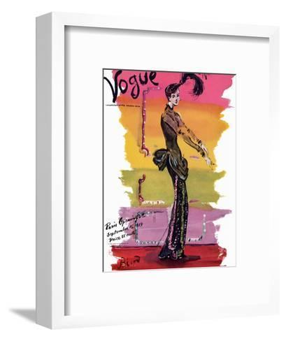 Vogue Cover - September 1939-Christian Berard-Framed Art Print