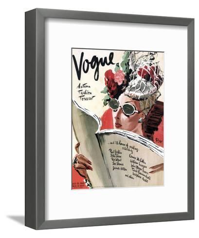 Vogue Cover - July 1941-Ren? Bou?t-Willaumez-Framed Art Print