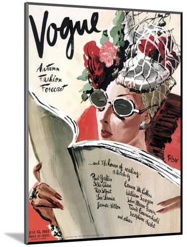 Vogue Cover - July 1941-Ren? Bou?t-Willaumez-Mounted Premium Giclee Print