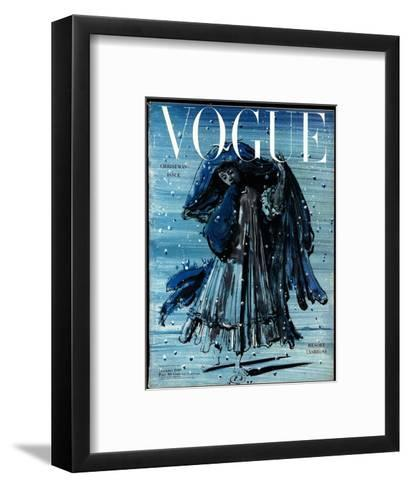 Vogue Cover - December 1948-Eugene Berman-Framed Art Print