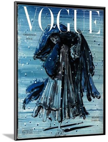 Vogue Cover - December 1948-Eugene Berman-Mounted Premium Giclee Print