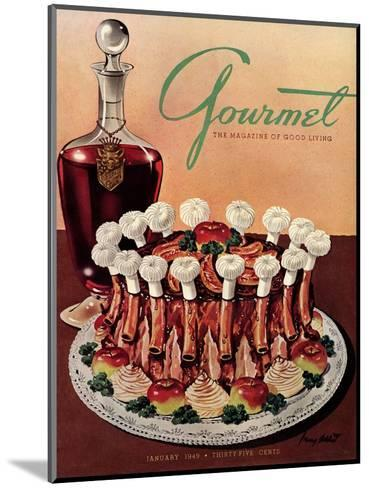 Gourmet Cover - January 1949-Henry Stahlhut-Mounted Premium Giclee Print