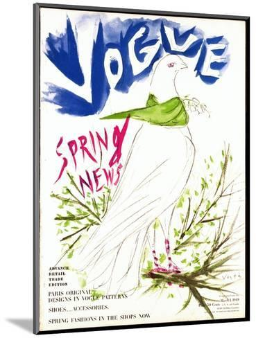 Vogue Cover - March 1949-Marcel Vertes-Mounted Premium Giclee Print