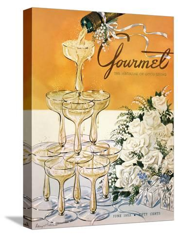 Gourmet Cover - June 1952-Henry Stahlhut-Stretched Canvas Print