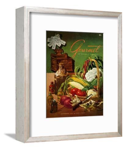 Gourmet Cover - September 1952-Henry Stahlhut-Framed Art Print