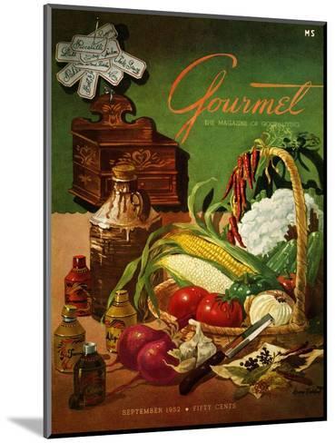 Gourmet Cover - September 1952-Henry Stahlhut-Mounted Premium Giclee Print