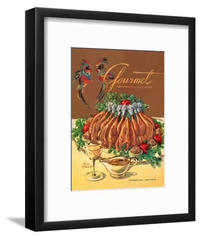 Gourmet Cover - November 1954-Henry Stahlhut-Framed Art Print